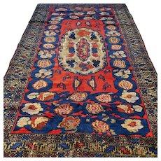 8.7 x 5.4 Antique 1920s Caucasian Karabakh Kazak Oriental Persian rug √ Free shipping
