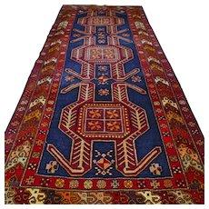 9.8 x 4.1 Dark Caucasian Oriental runner rug √ Free shipping