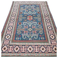5.3 x 3.3 Unique Caucasian Perepedil Kazak rug √ Free shipping