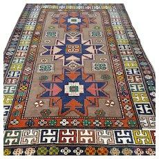 6.2 x 4.3 Anatolian Lesghi star Kazak Oriental rug √ Free shipping