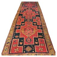 8.9 x 3 1920s tribal Kazak runner √ Free shipping