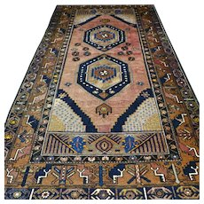 7.7 x 4.1 Antique Anatolian YahYali rug √ Free shipping