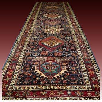 15.3 x 5 Superb oversized dark Kazak rug √ Free shipping