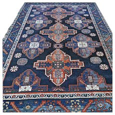 6.4 x 4.5 Antique tribal Kazak rug √ Free shipping