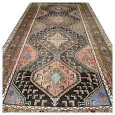 9.2x4.8, Antique tribal Kazak rug √ Free shipping