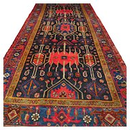 10.7 x 4.6 Perfect tribal Caucasian rug √ Free shipping