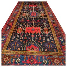 10.7x4.6 Perfect tribal Caucasian rug √ Free shipping