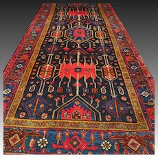 10.7x4.6 Perfect tribal Caucasian rug √ Free shipping