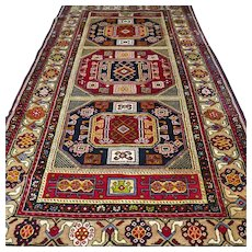 8.7 x 4.8 Colorful Anatolian Kazak rug √ Free shipping