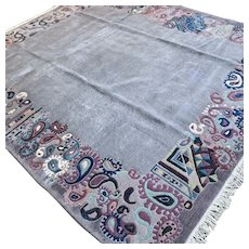 Wonderful contemporary rug 9 x 7.6 √ Free shipping
