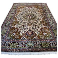 9.8 x 6.6 Luxury chic design Oriental rug √ Free shipping