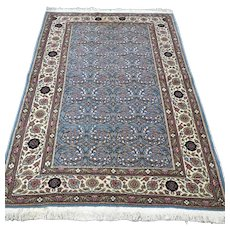 Free shipping -  5.7 x 3.9 Luxury light blue Anatolian Oriental rug
