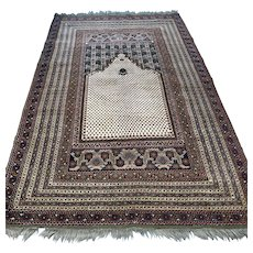 Free shipping - Antique early 1900s Anatolian Gordes Prayer rug - 6.6 x 4.2