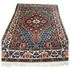 6.9 x 4.7 Antique early 1900s Bohemian Oriental rug √ Free shipping