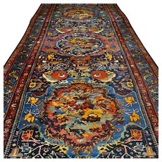 Outstanding antique bohemian collectors rug - 13.1 x 4.4 √ Free shipping