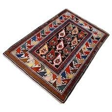Antique Caucasian Boteh Kazak  4.7 x 3 √ Free shipping