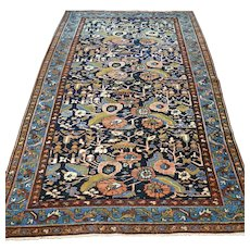 6.9 x 4.5 Antique 1890s bohemian Oriental rug √ Free shipping