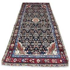 Free shipping - Dark bohemian Oriental rug - 8.7 x 4