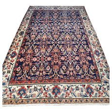 9.3 x 5.4 Dark bohemian Oriental rug √ Free shipping