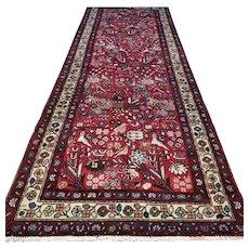 Birdparadise design Oriental rug - 9.7 x 3.4 √ Free shipping