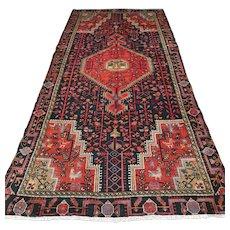 Dark Tribal Oriental rug - 9.8 x 4.6 √ Free shipping