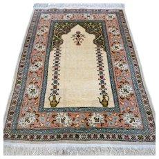Free shipping - Signed silk Hereke rug, Turkey - 2.8 x 2 - Collectors rug