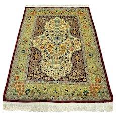 Free shipping - Signed silk Hereke rug, Turkey - 3.6 x 2.6 - Collectors rug