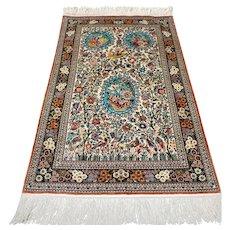 Superb silk Hereke rug, China - 4.1 x 2.6 √ Free shipping