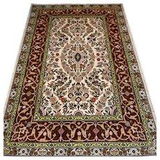 Superb silk Hereke rug, Turkey - 3.4 x 2.3 √ Free shipping