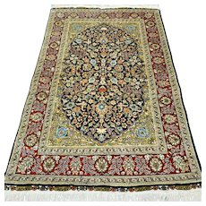 Superb signed silk bohemian collectors rug - 4.6 x 3 3 √ Free shipping