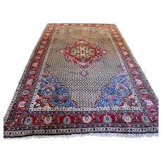 Free shipping - Luxury shabby chic Oriental rug - 10.7 x 6.9