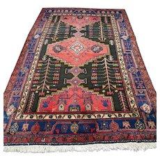 Free shipping - 7.9 x 5 Vintage nomad Kazak Oriental rug
