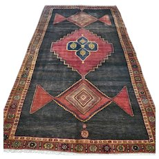 8.9 x 4.8 Vintage antique tribal Oriental rug √ Free shipping