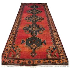 10 x 4.1 Vintage Antique Tribal Oriental rug √ Free shipping