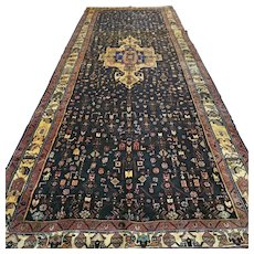 13.3 x 5 - Luxury Dark tribal Bohemian Oriental rug √ Free shipping