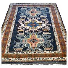 6.4 x 5.4 Modern dark Kazak Oriental rug √ Free shipping
