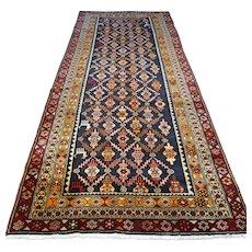 9.8 x 3.3 Tribal Anatolian Kazak runner rug √ Free shipping
