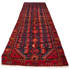 Free shipping - 10.2 x 3.8 Chic tribal Oriental runner rug