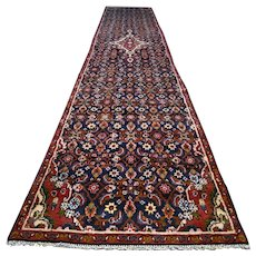 Free shipping - 13.9 x 2.7- Luxury Dark bohemian Oriental runner rug