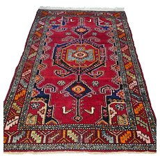 Free shipping - 6.6 x 4.4 Vintage bohemian Kazak Oriental rug