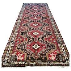 Bohemian Kazak Oriental runner rug - 9.5 x 3.7 √ Free shipping