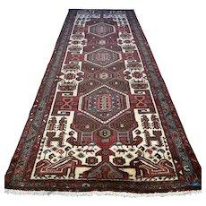 Tribal Kazak Oriental runner rug - 9.9 x 3.5 √ Free shipping