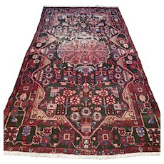 Vintage bohemian Oriental rug - 8.3 x 4.6 √ Free shipping