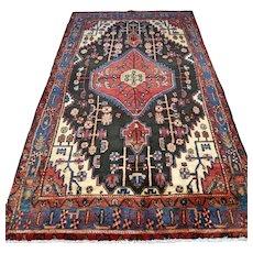 Free shipping - Tribal dark Oriental rug - 8.5 x 4.8 √ CLEAN AS NEW