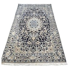 6.6 x 3.9 Luxury blue Bohemian Oriental rug with silk √ Free shipping