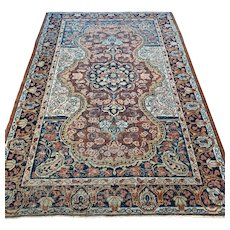 6.7 x 4.6 Vintage 1920s antique bohemian rug √ Free shipping