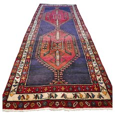 10.3 x 3.9 Tribal Kurdish Oriental runner rug √ Free shipping