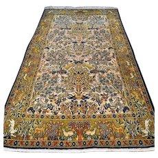 Free shipping - Animal kingdom design Oriental rug - 7.4 x 4.2
