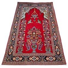 Persian Qum rug - 4.9 x 3.3 - Free shipping