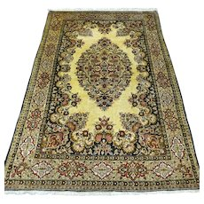 Silk antique bohemian collectors rug - 5.2 x 3.4 √ Free shipping